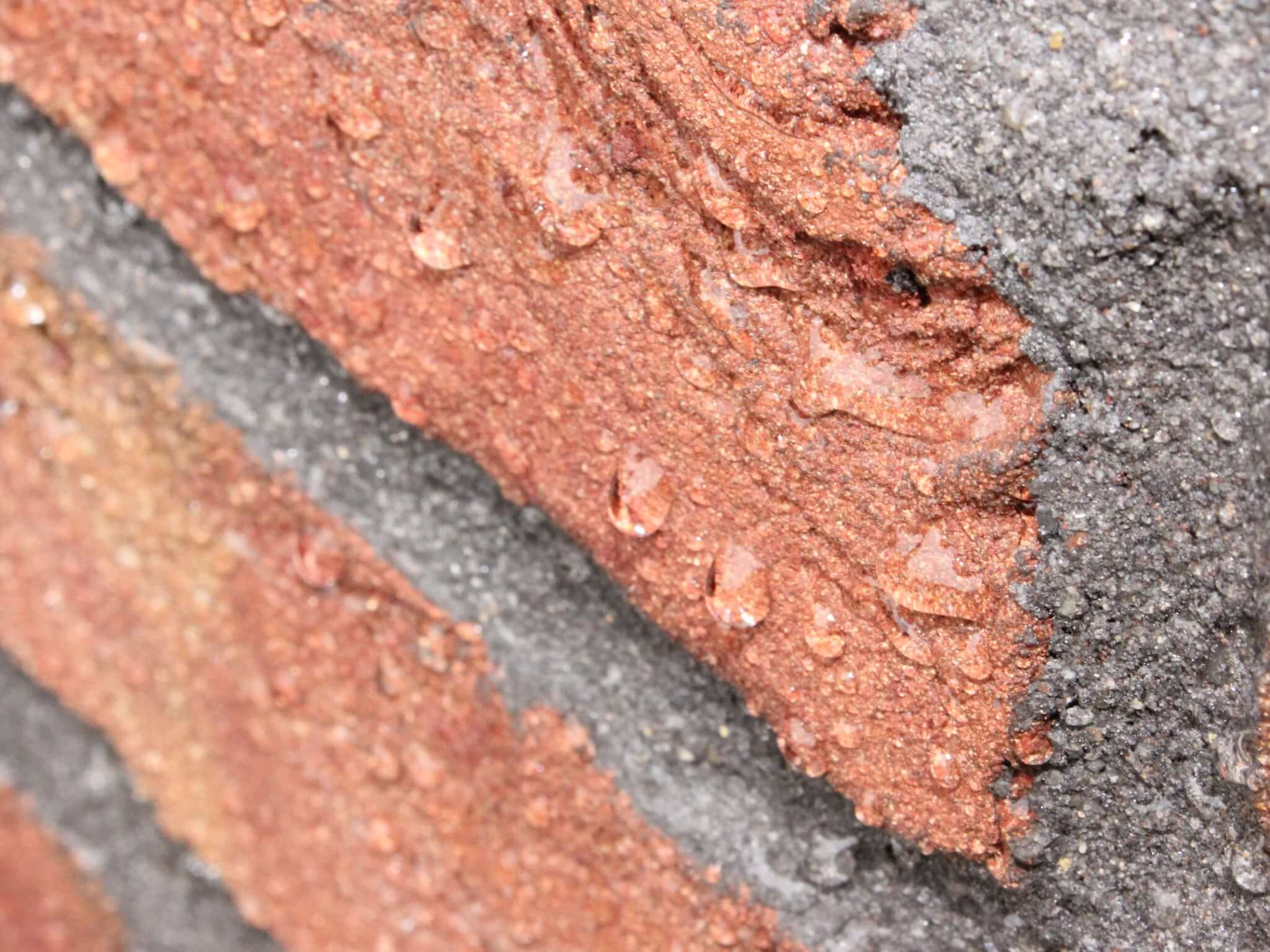 beading effect on masonry