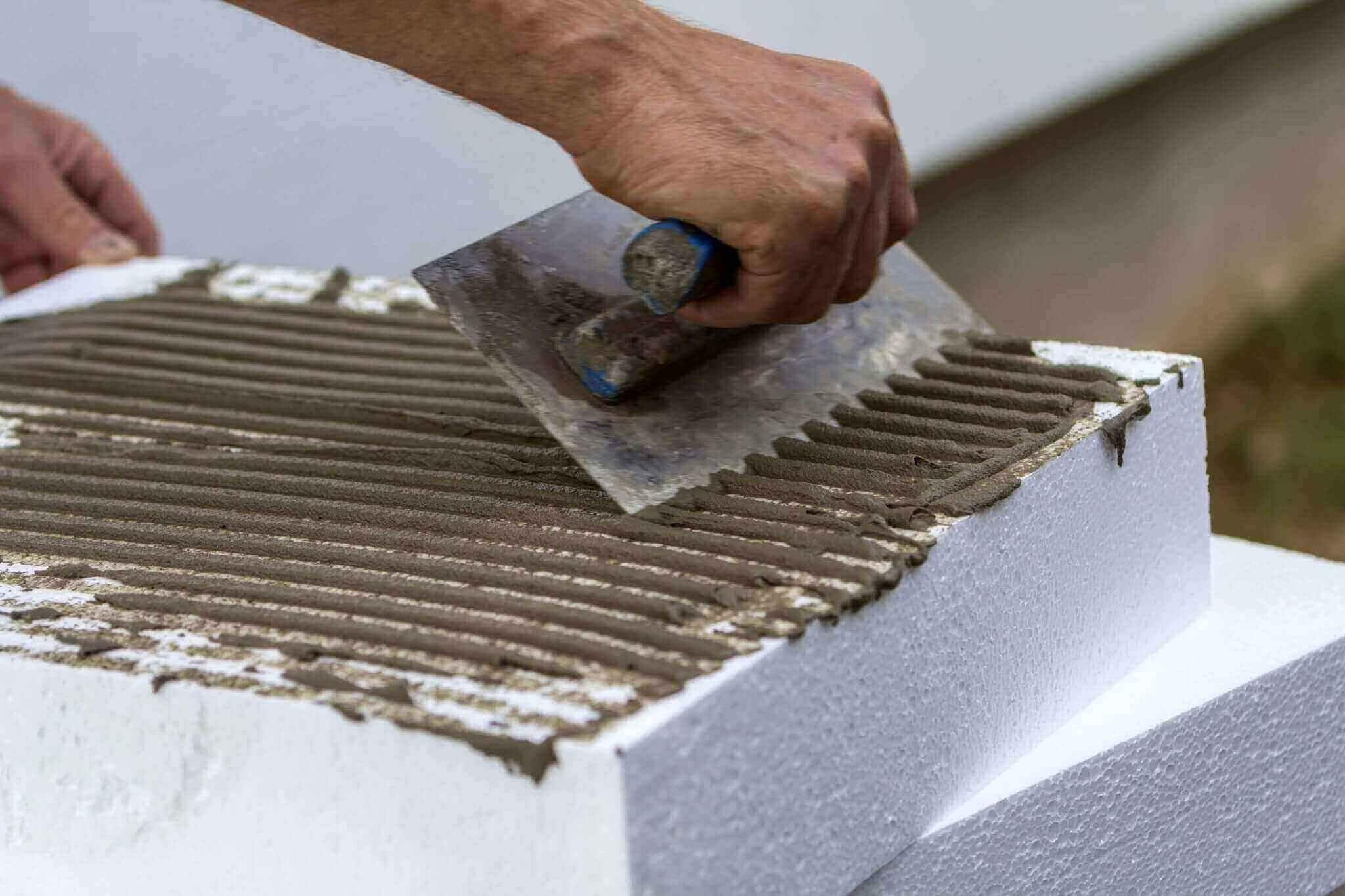 extended clay insulation facade