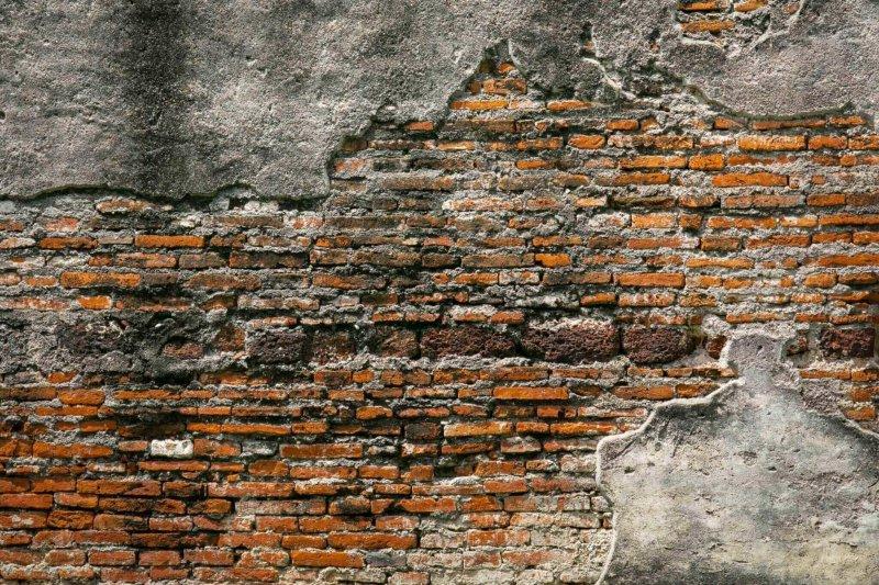 old bricks building facade